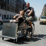 Lastenfahrrad Rollstuhlfahrer