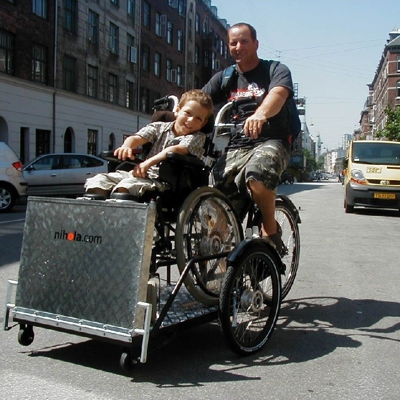 Lastenfahrrad für Rollstuhlfahrer